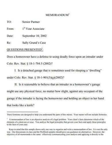 sample academic memorandum template
