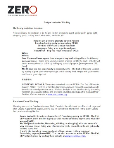 sample charity fundraiser invitation