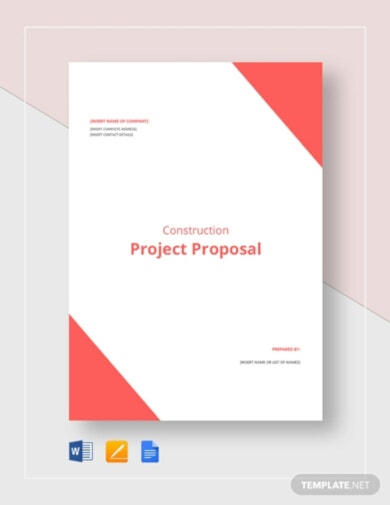 sample construction project proposal template