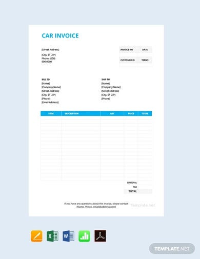 sample-free-car-invoice-template