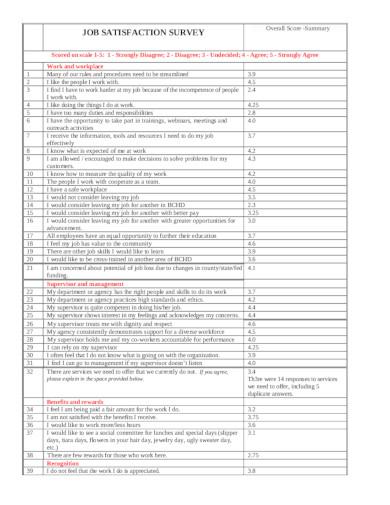 sample job satisfaction survey