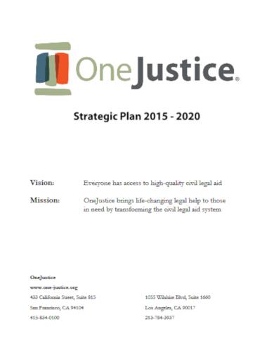 sample legal strategic plan template