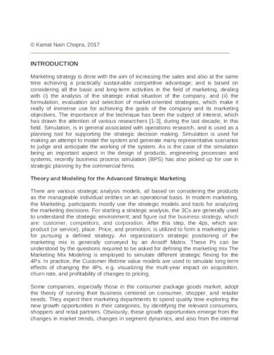 sample marketing analysis template