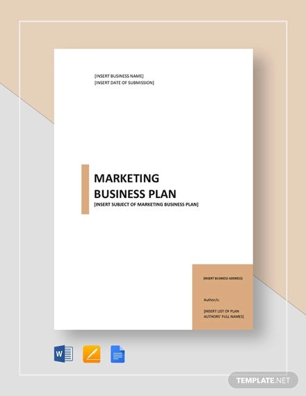 sample marketing business plan template