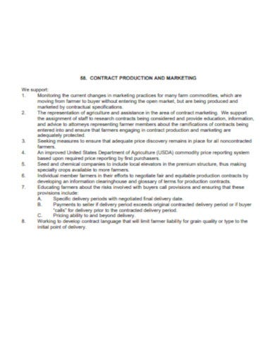sample marketing contract example
