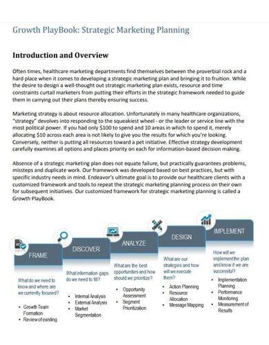 sample medical marketing plan template
