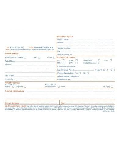 sample medical referral form