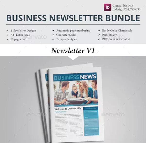 sample newsletter template bundle1