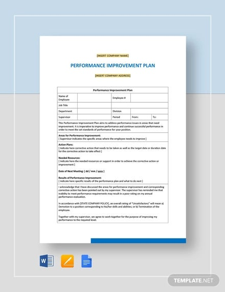 12+ Performance Plan Templates - PDF, Word Format Download ...