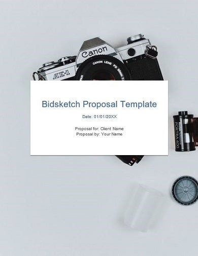 sample product photography proposal template