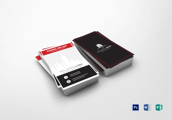 sample real estate business card