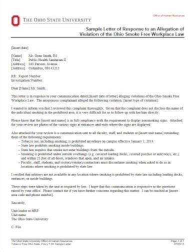 sample response letter for workplace law1