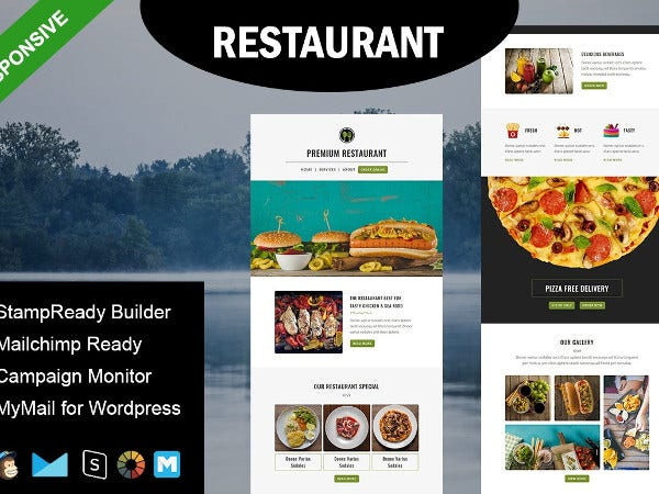sample restaurant email template