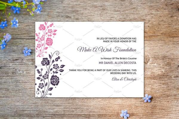 6+ Wedding Donation Card Templates - Photoshop ...