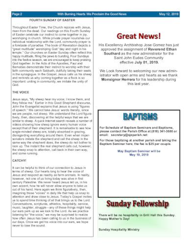 sample of church schedule in pdf