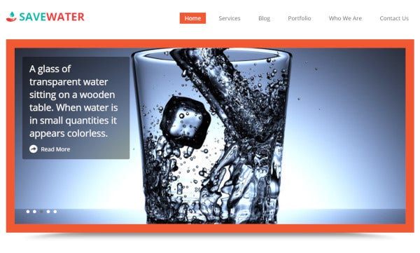 save-water-responsive-wordpress-theme