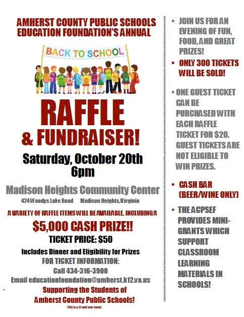 school fundraiser raffle flyer template