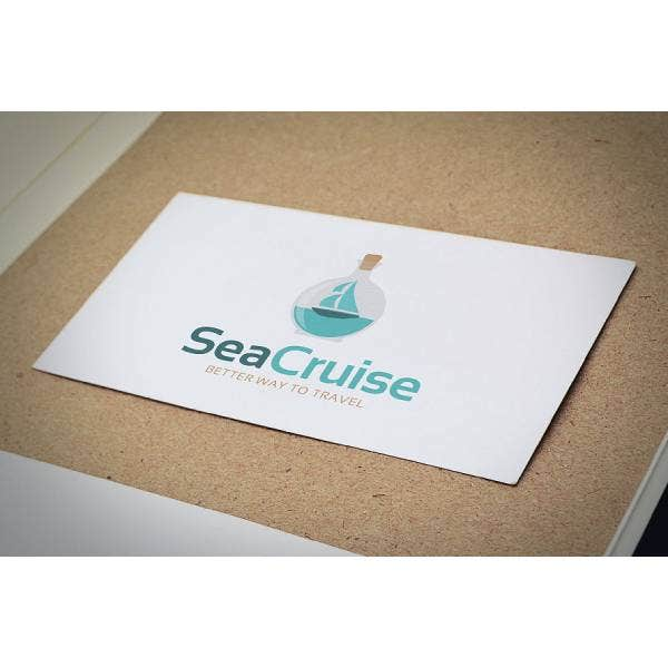 sea cruise travel company logo template 1