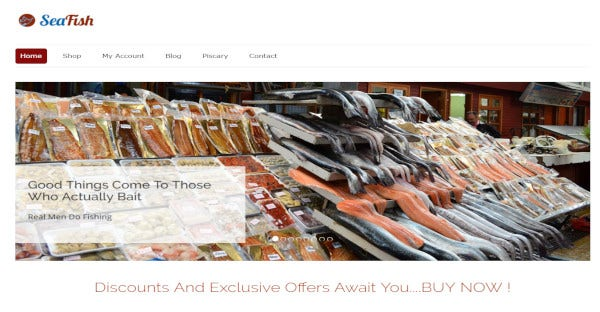 SeaFish – One-Click Installation WordPress Theme