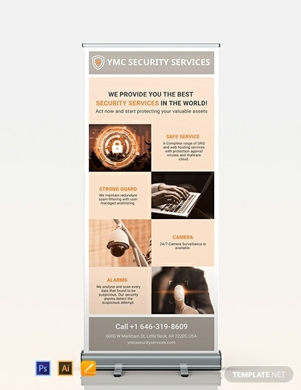 security services marketing roll up banner