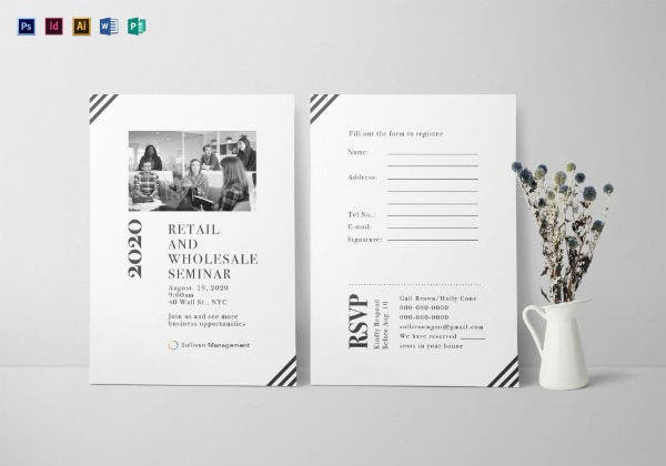 seminar event invitation card template