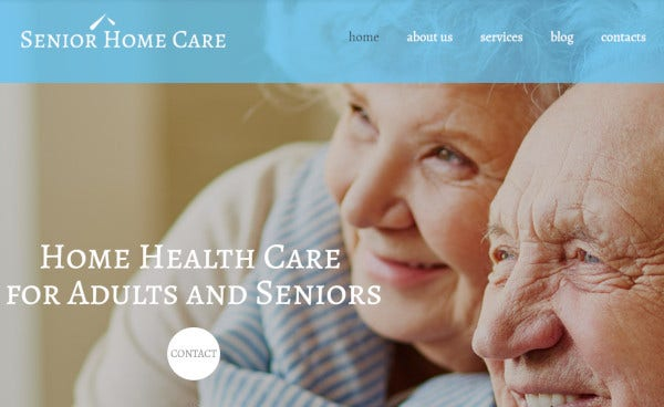 senior home care cherry framework wordpress theme