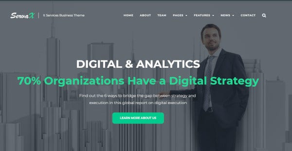 Servax - blog integrated WordPress Theme