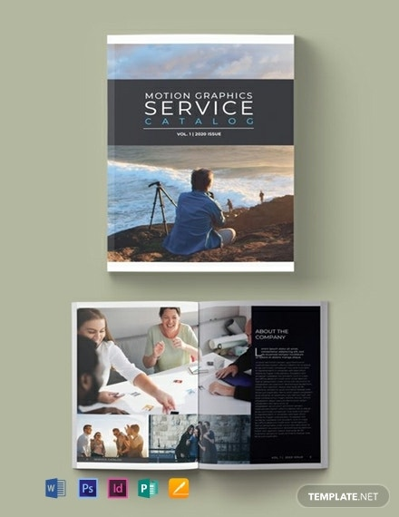 service catalog example template