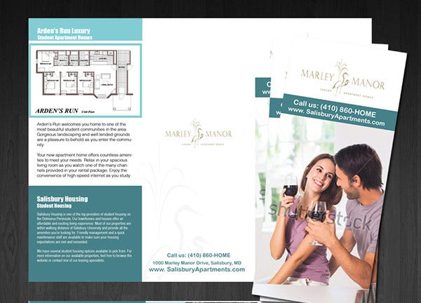 simple apartment brochure template