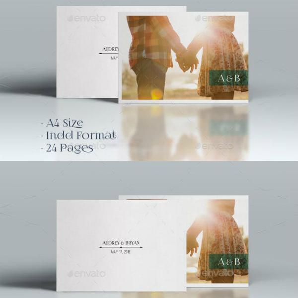simple beautiful wedding photobook design