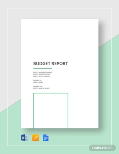 simple budget report template