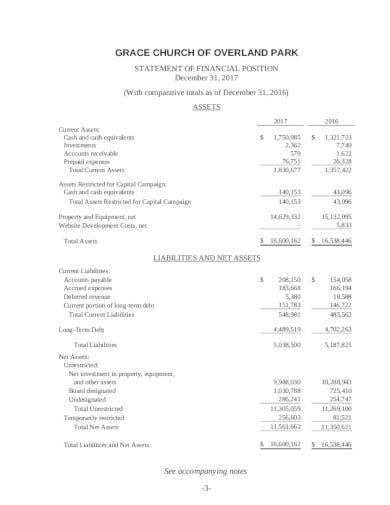 18+ Church Financial Statement Templates in PDF | DOC ...