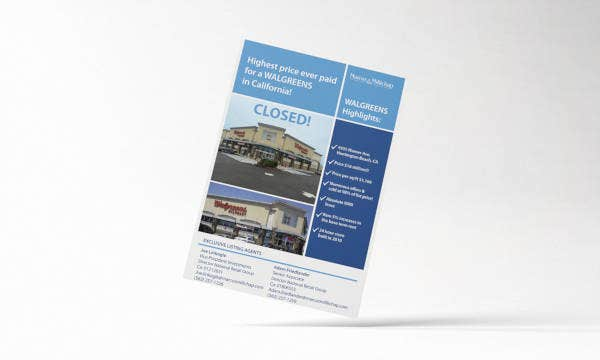 simple commercial real estate flyer
