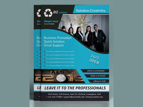 simple company flyer