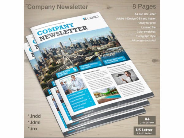 simple company newsletter template