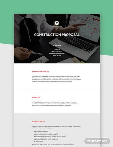 simple construction proposal template1