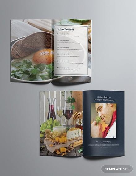 simple cookbook food catalog layout