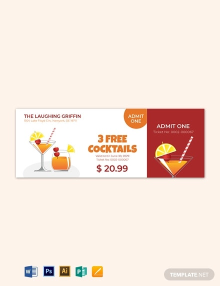 simple drink ticket