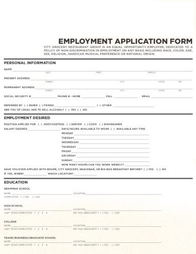 simple-employment-application-form-for-restaurant
