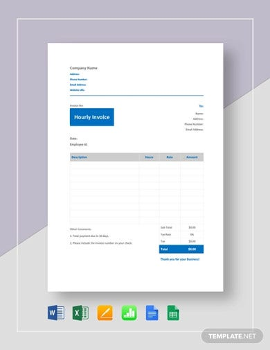 simple hourly invoice template1