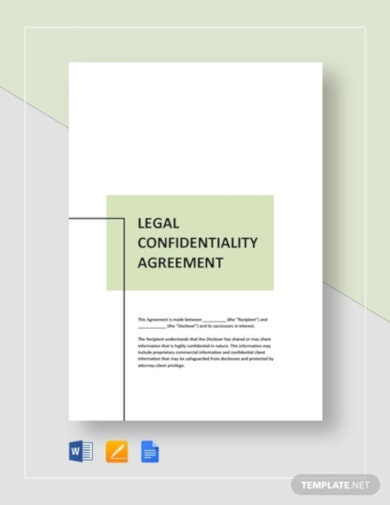 simple legal confidentiality agreement