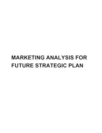simple marketing analysiss in pdf