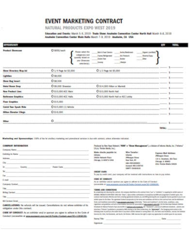 simple marketing contract template