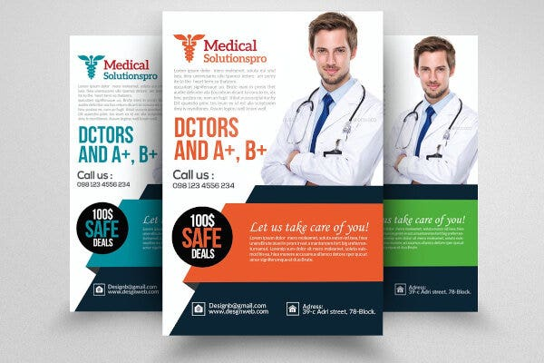 simple medical doctor poster template