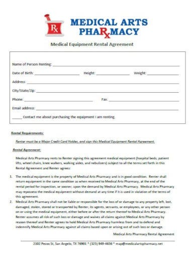 simple medical rental agreement