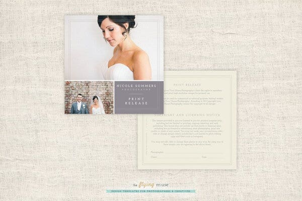 simple photographer licensing form for wedding