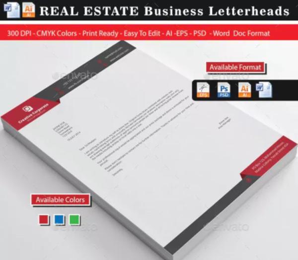 simple real estate letterhead bundle1