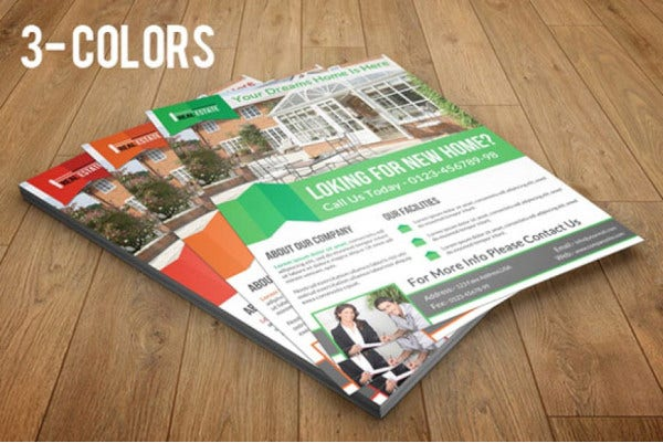 simple real estate marketing flyer