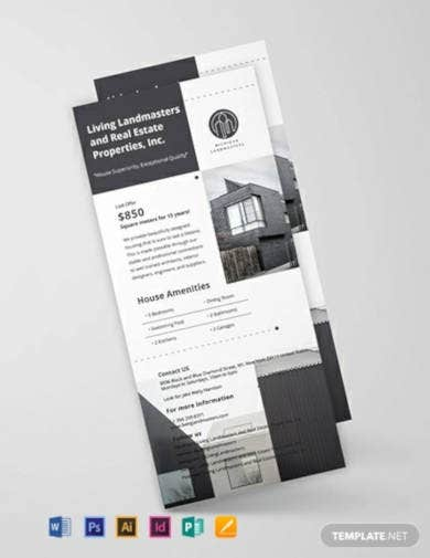 simple real estate rack card template
