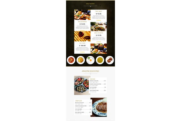 simple restaurant food email template
